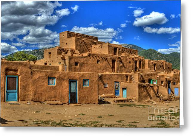 Recently Sold -  - Photo Art Gallery Greeting Cards - Pueblo de Taos Greeting Card by K D Graves