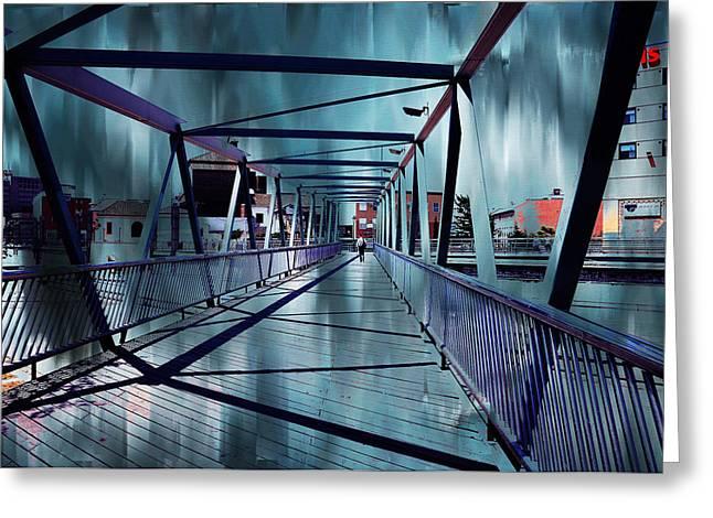Puente De La Trinidad 1. Malaga Bridges. Spain Greeting Card by Jenny Rainbow