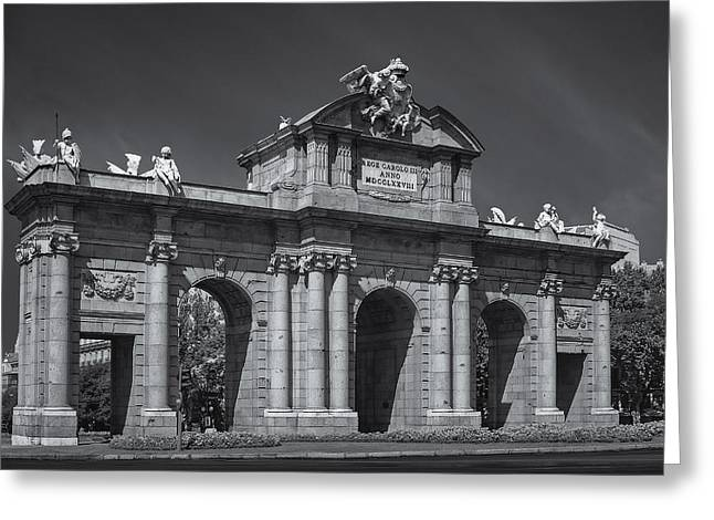 Independance Greeting Cards - Puerta De Alcala Greeting Card by Susan Candelario