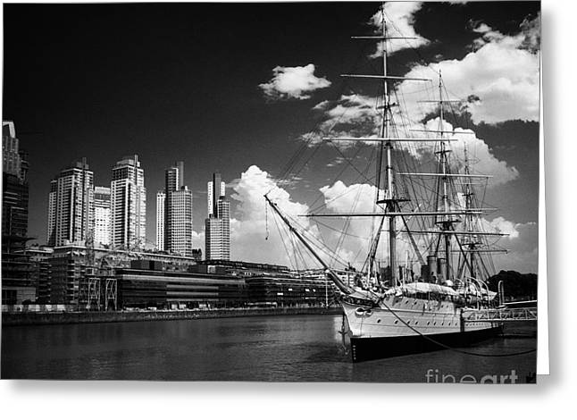 Historic Ship Greeting Cards - Puerto Madero Capital Federal Buenos Aires Republic Of Argentina For Rita Greeting Card by Joe Fox