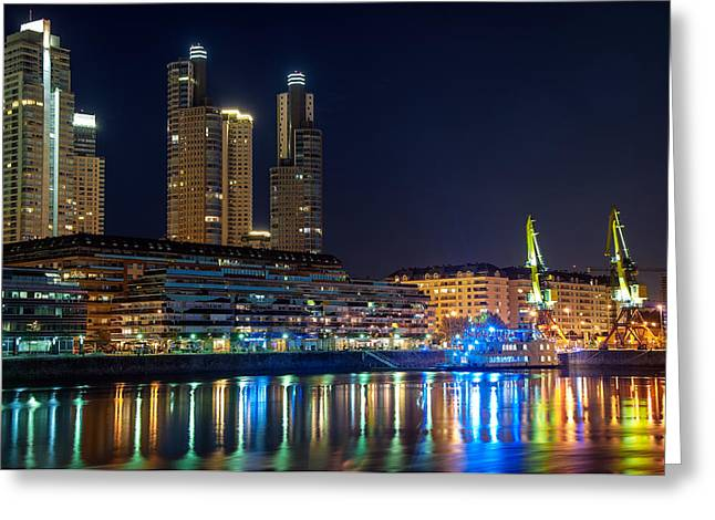 Buenos Aires Greeting Cards - Puerto Madero Greeting Card by Jess Kraft