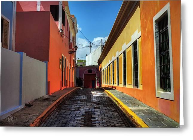 Old San Juan Greeting Cards - Puerto Rico - Old San Juan 008 Greeting Card by Lance Vaughn