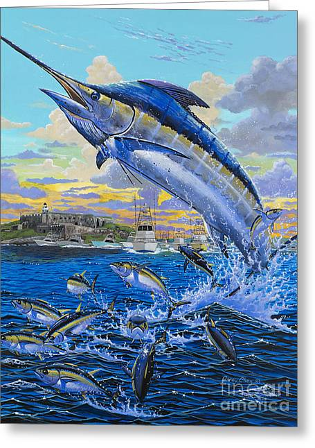 Striped Marlin Paintings Greeting Cards - Puerto Rico IBT 2013 OFF00144 Greeting Card by Carey Chen