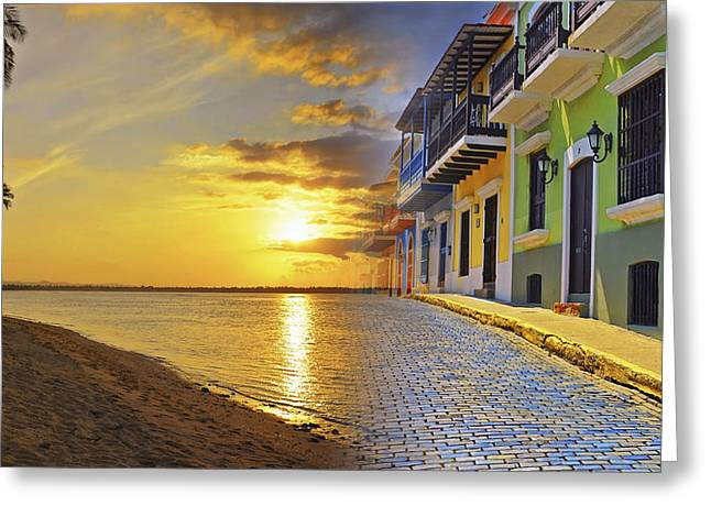 Brick Streets Greeting Cards - Puerto Rico Montage 1 Greeting Card by Stephen Anderson
