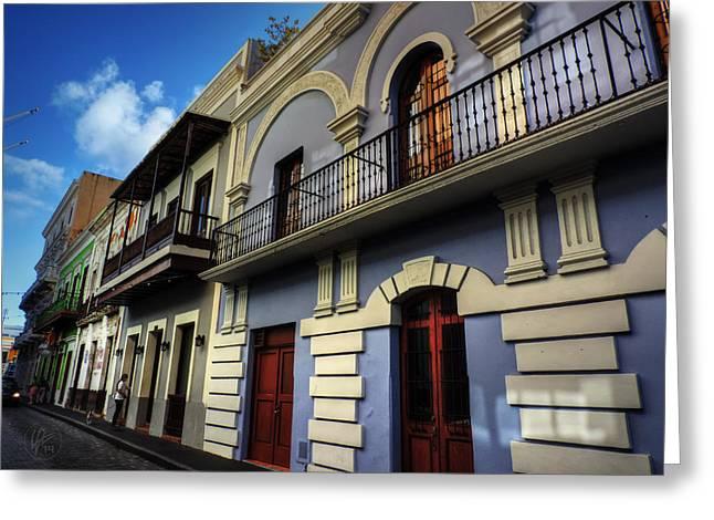 Old San Juan Greeting Cards - Puerto Rico - Old San Juan 002 Greeting Card by Lance Vaughn