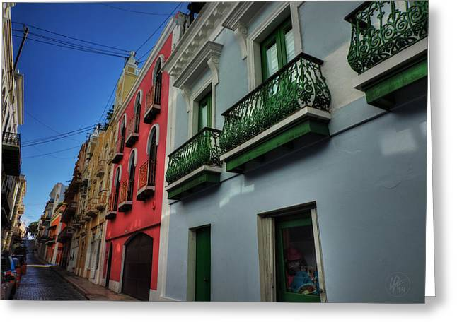 Old San Juan Greeting Cards - Puerto Rico - Old San Juan 003 Greeting Card by Lance Vaughn