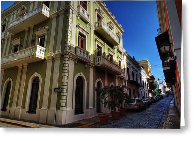 Old San Juan Greeting Cards - Puerto Rico - Old San Juan 004 Greeting Card by Lance Vaughn