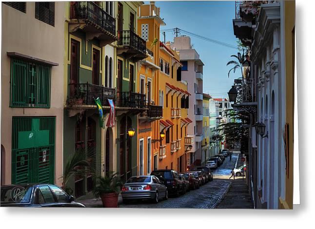 Old San Juan Greeting Cards - Puerto Rico - Old San Juan 006 Greeting Card by Lance Vaughn