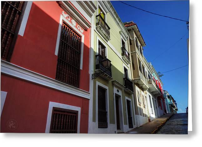 Old San Juan Greeting Cards - Puerto Rico - Old San Juan 007 Greeting Card by Lance Vaughn