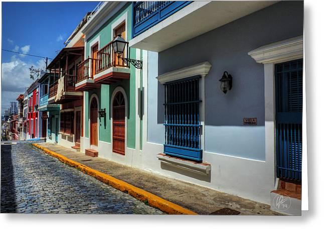 Old San Juan Greeting Cards - Puerto Rico - Old San Juan 010 Greeting Card by Lance Vaughn