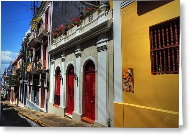 Old San Juan Greeting Cards - Puerto Rico - Old San Juan 011 Greeting Card by Lance Vaughn