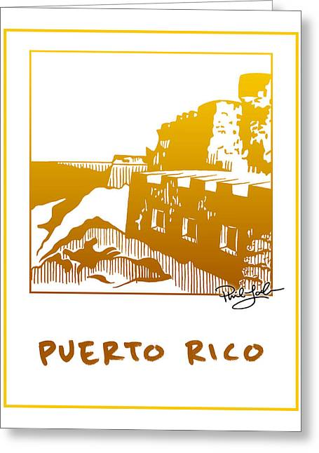 Puerto Rico Mixed Media Greeting Cards - Puerto Rico Greeting Card by Phil Lohmeyer
