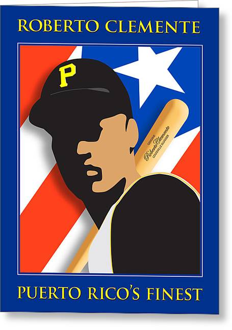 Clemente Greeting Cards - Puerto Ricos Finest Greeting Card by Ron Regalado