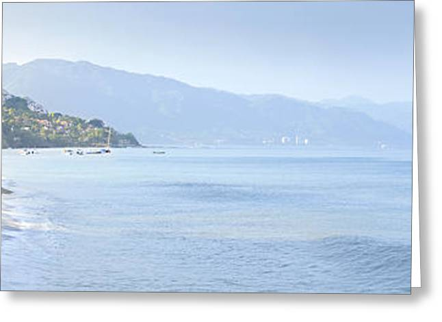 Puerto Vallarta beach in Mexico Greeting Card by Elena Elisseeva