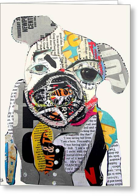 Dogs. Pugs Greeting Cards - Pug Fiction Greeting Card by Bri Buckley