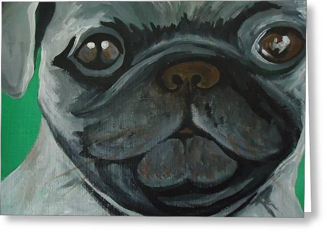 Pug Greeting Cards Greeting Cards - Pug Greeting Card by Leslie Manley