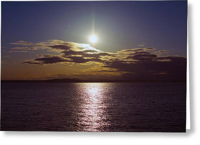 Puget Sound Greeting Cards - Puget Sound Shimmer Greeting Card by Michael DeMello