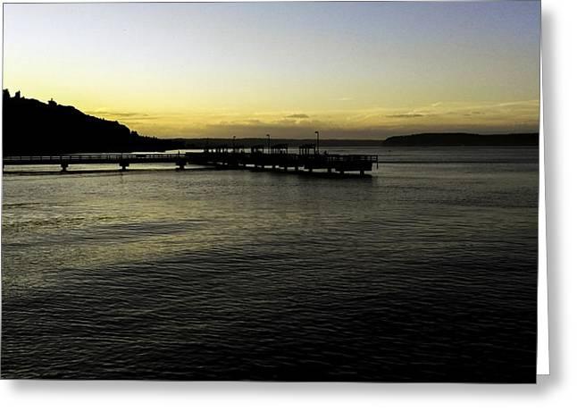Puget Sound Sundown Greeting Card by Paul Shefferly