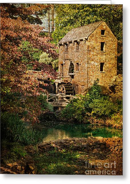 Senor Greeting Cards - Pughs Old Mill Greeting Card by Priscilla Burgers