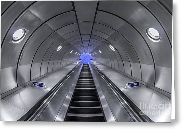 Escalator Greeting Cards - Pull Me In Greeting Card by Evelina Kremsdorf