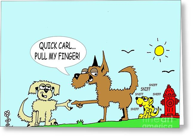 Mutt Jack Greeting Cards - Pulled  Greeting Card by Jack Norton
