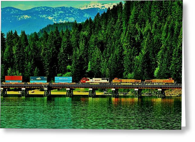 Lake Pend Oreille Greeting Cards - Pulling Through Sandpoint Greeting Card by Benjamin Yeager