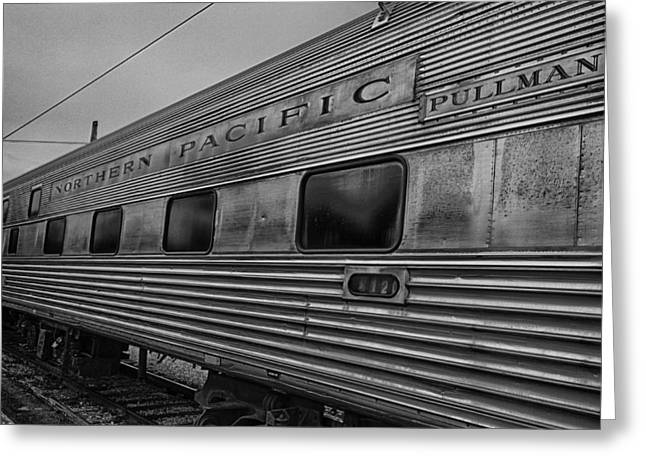 Train Yard Greeting Cards - Pullman Car Greeting Card by Mike Burgquist