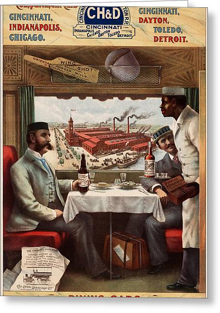 Historical Images Drawings Greeting Cards - Pullman Compartment Cars Greeting Card by Mountain Dreams