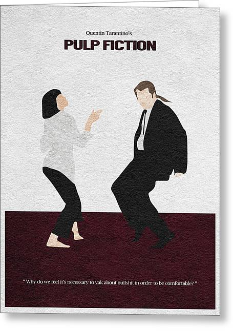 Vintage Movie Poster Greeting Cards - Pulp Fiction 2 Greeting Card by Ayse Deniz