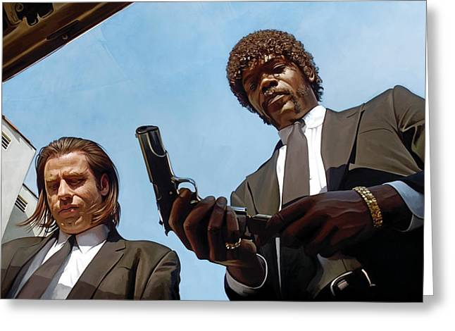 Tarantino Greeting Cards - Pulp Fiction Artwork 1 Greeting Card by Sheraz A