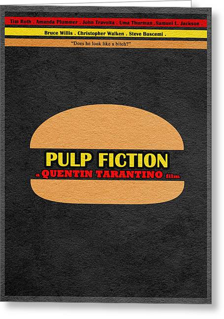 Samuel L Jackson Greeting Cards - Pulp Fiction Greeting Card by Ayse Deniz