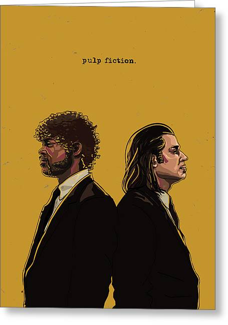 Culture Greeting Cards - Pulp Fiction Greeting Card by Jeremy Scott