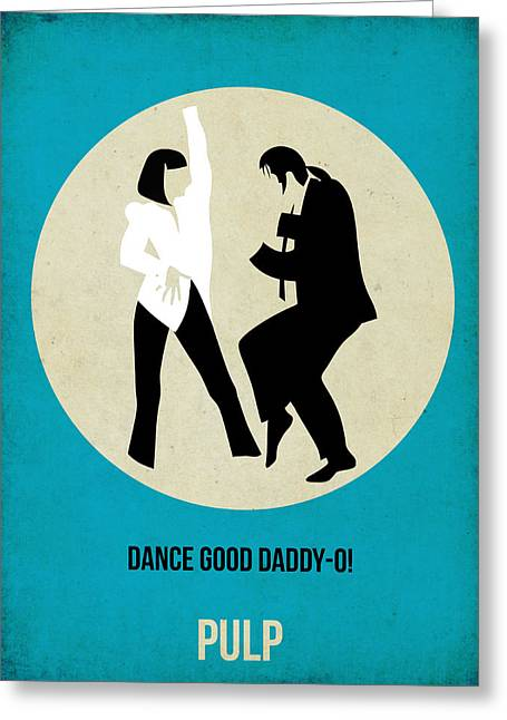 Series Greeting Cards - Pulp Fiction Poster 2 Greeting Card by Naxart Studio