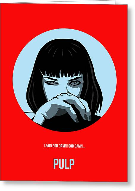 Tarantino Greeting Cards - Pulp Fiction Poster 3 Greeting Card by Naxart Studio