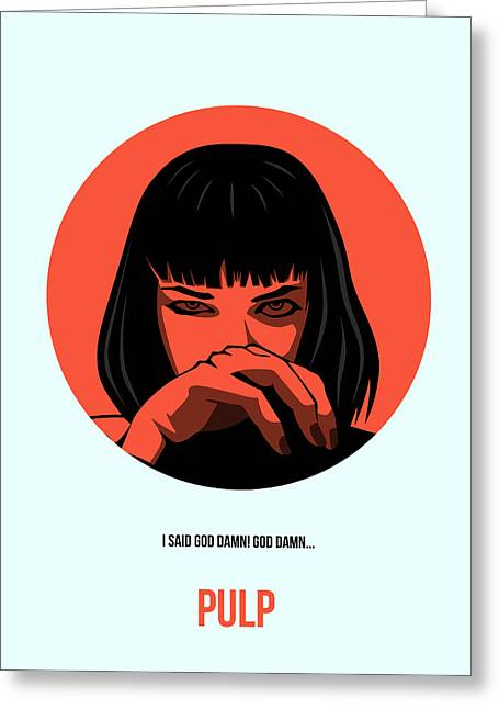 Tarantino Greeting Cards - Pulp Fiction Poster 4 Greeting Card by Naxart Studio