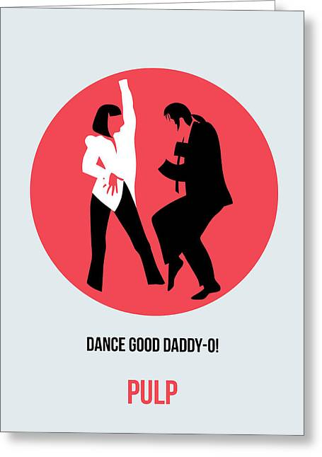 Tarantino Greeting Cards - Pulp Fiction Poster 5 Greeting Card by Naxart Studio