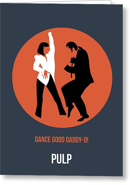 Famous Actress Greeting Cards - Pulp Fiction Poster 6 Greeting Card by Naxart Studio