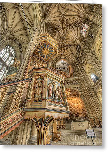 D700 Greeting Cards - Pulpit I Canterbury Cathedral Kent UK Greeting Card by Jack Torcello