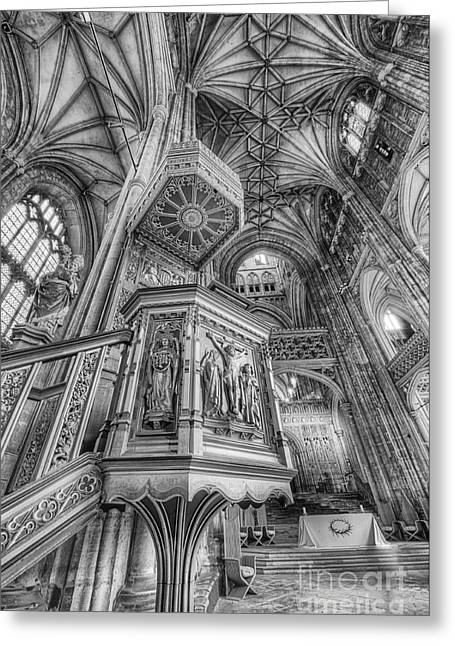Gospel Greeting Cards - Pulpit II Greeting Card by Jack Torcello