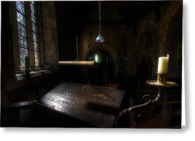 Sacred Digital Greeting Cards - Pulpit  Greeting Card by Nathan Wright