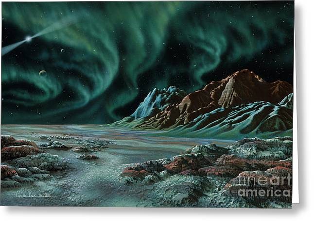 Pulsar Planets I Greeting Card by Lynette Cook