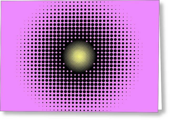 Ouchi Illusion Greeting Cards - Pulsations Greeting Card by Gianni Sarcone