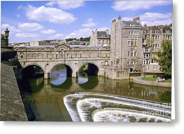 Pulteney Bridge Greeting Cards - Pulteney Bridge Bath Greeting Card by Graham Morley