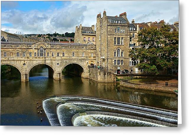 Pulteney Bridge Greeting Cards - Pulteney Bridge Greeting Card by Lanis Rossi