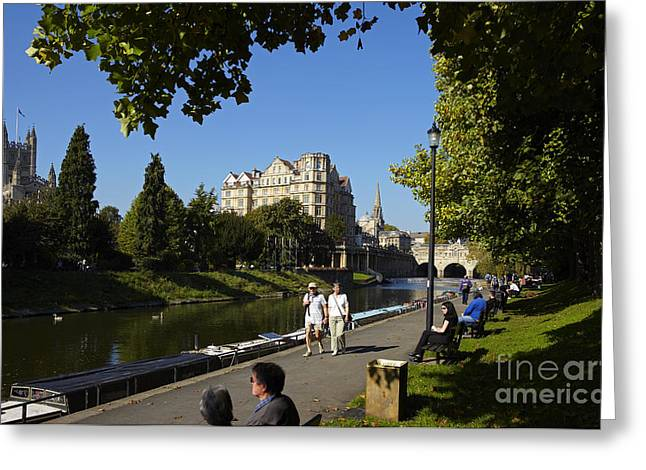 Pulteney Bridge Greeting Cards - Pulteney Bridge Greeting Card by Premierlight Images