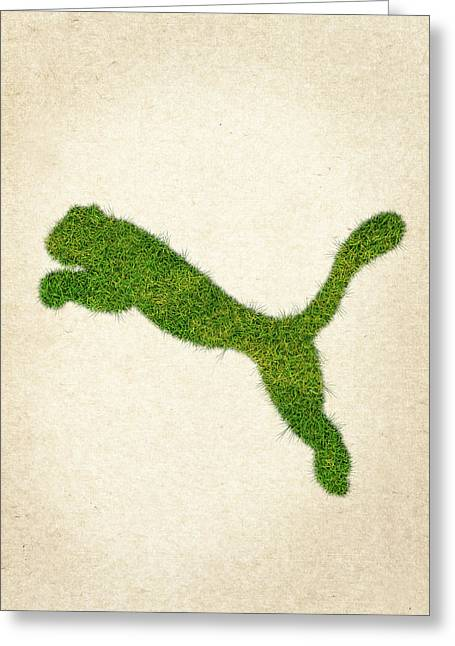 Plant Life Digital Greeting Cards - Puma Grass Logo Greeting Card by Aged Pixel