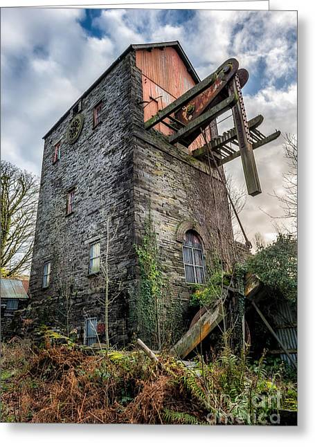 Dilapidated Digital Art Greeting Cards - Pump House Greeting Card by Adrian Evans