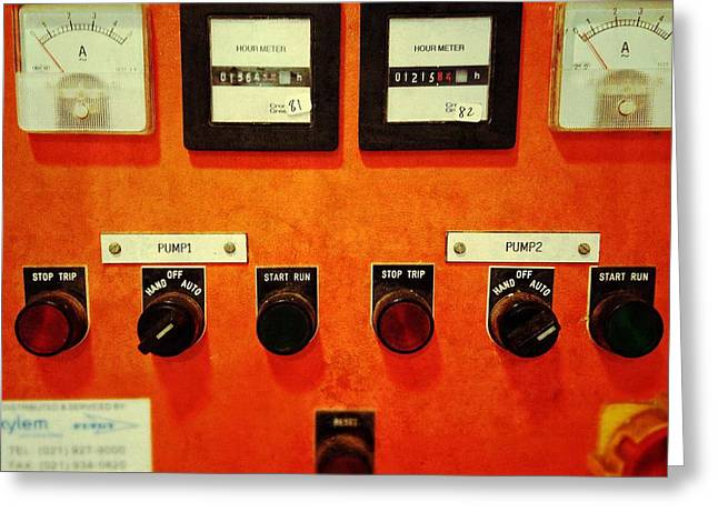 Control Panels Greeting Cards - Pump me up Greeting Card by Olivier Calas