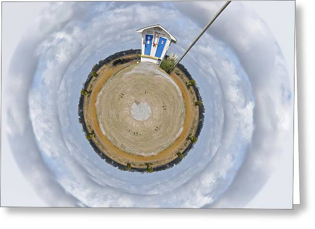 Clever Greeting Cards - Pump Station Wee Planet Greeting Card by Paulette B Wright