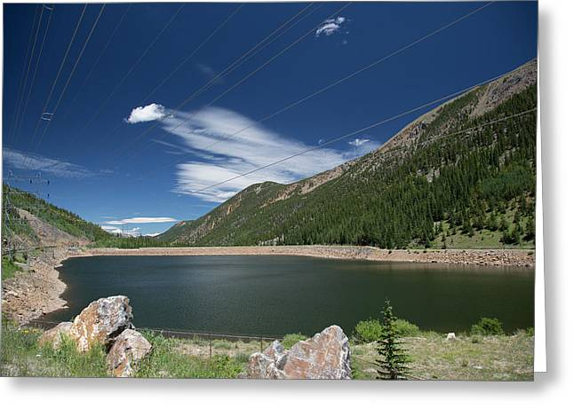 Pumped Storage Hydroelectric Project Greeting Card by Jim West